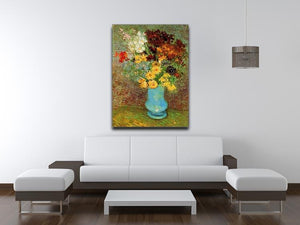 Vase with Daisies and Anemones by Van Gogh Canvas Print & Poster - Canvas Art Rocks - 4