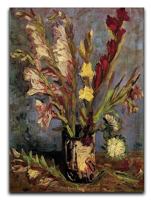 Vase with Gladioli 4 by Van Gogh Canvas Print or Poster