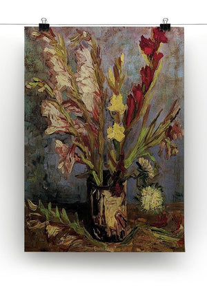 Vase with Gladioli 4 by Van Gogh Canvas Print & Poster - Canvas Art Rocks - 2