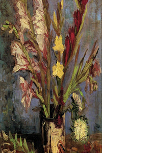 Vase with Gladioli 4 by Van Gogh Floating Framed Canvas