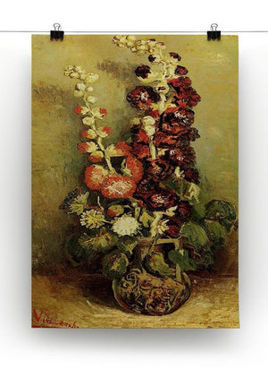 Vase with Hollyhocks by Van Gogh Canvas Print & Poster - Canvas Art Rocks - 2