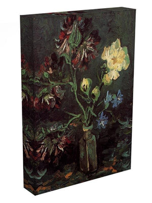 Vase with Myosotis and Peonies by Van Gogh Canvas Print & Poster - Canvas Art Rocks - 3