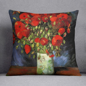 Vase with Red Poppies by Van Gogh Throw Pillow