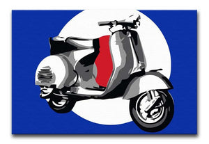 Vespa Scooter Pop Art Print - Canvas Art Rocks - 1