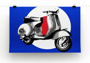 Vespa Scooter Pop Art Print - Canvas Art Rocks - 2