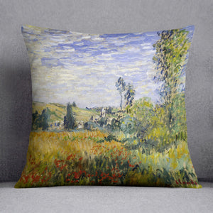Vetheuil by Monet Throw Pillow