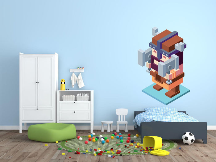 Video Game Dwarf Wall Sticker