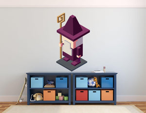 Video Game Wizard Wall Decal - Canvas Art Rocks - 1