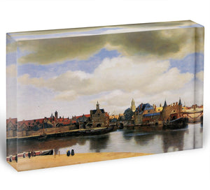 View of Delft by Vermeer Acrylic Block - Canvas Art Rocks - 1