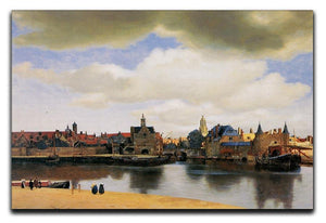 View of Delft by Vermeer Canvas Print or Poster - Canvas Art Rocks - 1