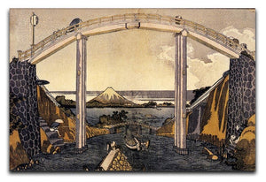 View of Mount Fuji by Hokusai Canvas Print or Poster  - Canvas Art Rocks - 1