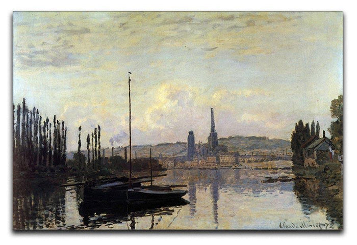 View of Rouen by Monet Canvas Print or Poster