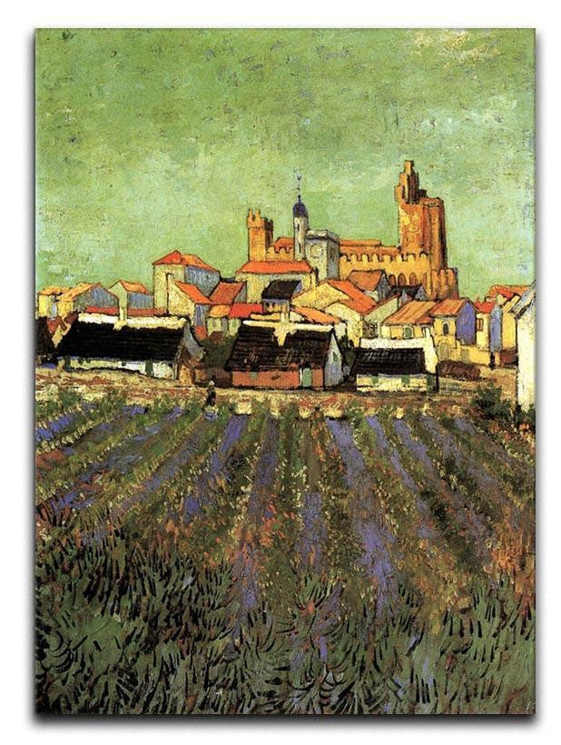 View of Saintes-Maries by Van Gogh Canvas Print & Poster  - Canvas Art Rocks - 1