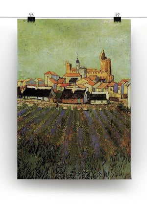 View of Saintes-Maries by Van Gogh Canvas Print & Poster - Canvas Art Rocks - 2