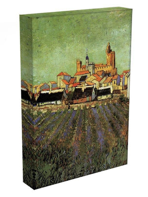 View of Saintes-Maries by Van Gogh Canvas Print & Poster - Canvas Art Rocks - 3