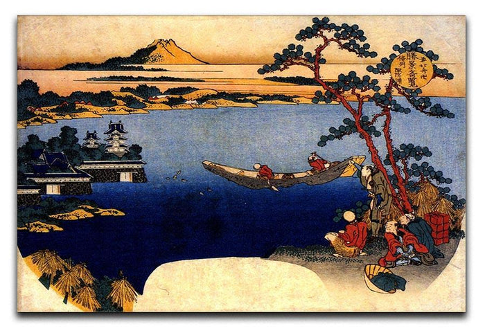 View of lake Suwa by Hokusai Canvas Print or Poster