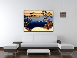 View of lake Suwa by Hokusai Canvas Print or Poster - Canvas Art Rocks - 4