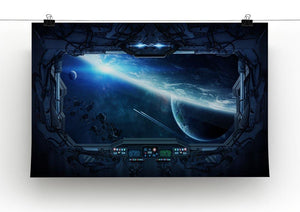 View of outer space from the window of a space station Canvas Print or Poster - Canvas Art Rocks - 2