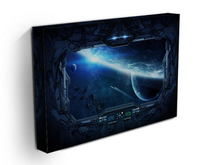 View of outer space from the window of a space station Canvas Print or Poster - Canvas Art Rocks - 3