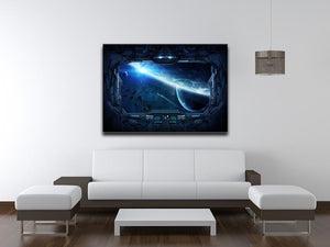 View of outer space from the window of a space station Canvas Print or Poster - Canvas Art Rocks - 4