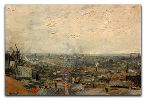 View of paris from Montmarte by Van Gogh Canvas Print & Poster  - Canvas Art Rocks - 1