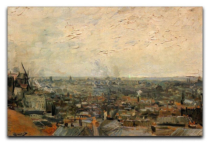 View of paris from Montmarte by Van Gogh Canvas Print or Poster