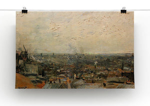 View of paris from Montmarte by Van Gogh Canvas Print & Poster - Canvas Art Rocks - 2