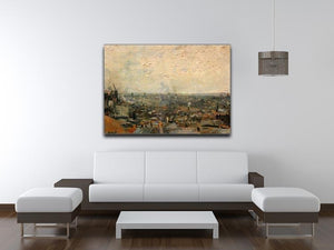 View of paris from Montmarte by Van Gogh Canvas Print & Poster - Canvas Art Rocks - 4