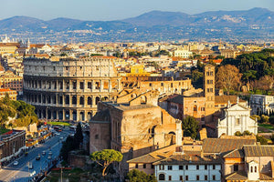 View on Colosseum in Rome Wall Mural Wallpaper - Canvas Art Rocks - 1