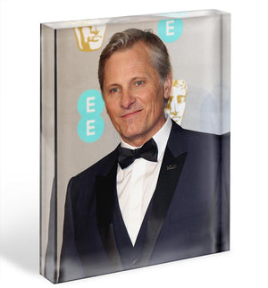 Viggo Mortensen Acrylic Block - Canvas Art Rocks - 1