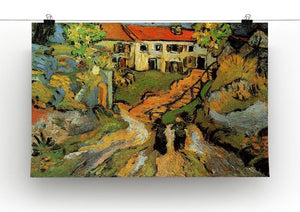 Village Street and Steps in Auvers with Two Figures by Van Gogh Canvas Print & Poster - Canvas Art Rocks - 2