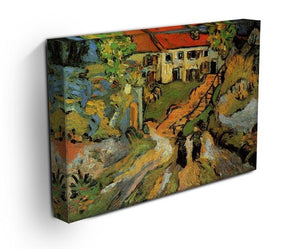 Village Street and Steps in Auvers with Two Figures by Van Gogh Canvas Print & Poster - Canvas Art Rocks - 3