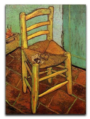 Vincent's Chair with His Pipe by Van Gogh Canvas Print & Poster  - Canvas Art Rocks - 1