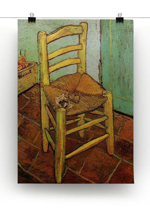 Vincent's Chair with His Pipe by Van Gogh Canvas Print & Poster - Canvas Art Rocks - 2