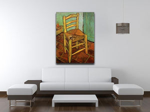 Vincent's Chair with His Pipe by Van Gogh Canvas Print & Poster - Canvas Art Rocks - 4