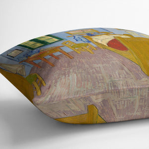 Vincents bedroom at Arles Throw Pillow