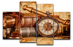 Vintage Antique pocket watch 4 Split Panel Canvas  - Canvas Art Rocks - 1