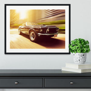 Vintage Car Framed Print - Canvas Art Rocks - 1