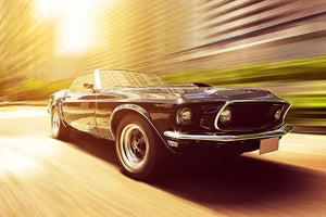 Vintage Car Wall Mural Wallpaper - Canvas Art Rocks - 1