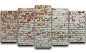 Vintage dirty brick wall 5 Split Panel Canvas - Canvas Art Rocks - 1