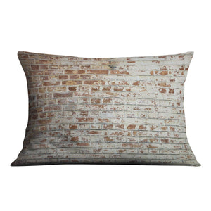 Vintage dirty brick wall Cushion - Canvas Art Rocks - 4