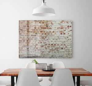 Vintage dirty brick wall HD Metal Print - Canvas Art Rocks - 2