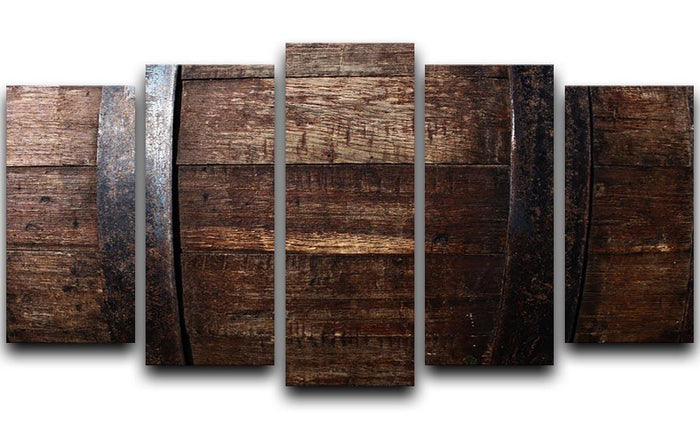 Vintage texture of oak barrel 5 Split Panel Canvas