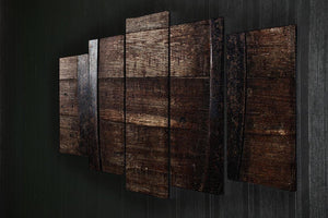 Vintage texture of oak barrel 5 Split Panel Canvas  - Canvas Art Rocks - 2