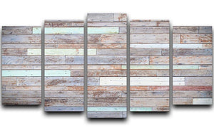 Vintage wooden wall 5 Split Panel Canvas - Canvas Art Rocks - 1