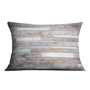 Vintage wooden wall Cushion - Canvas Art Rocks - 4