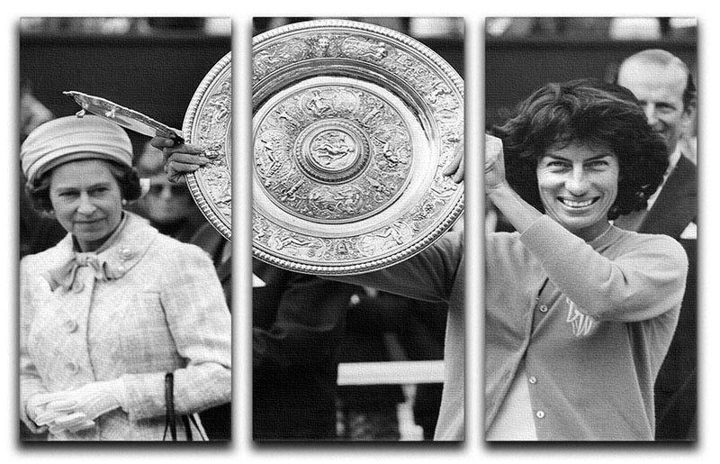 Virginia Wade tennis player 3 Split Panel Canvas Print - Canvas Art Rocks - 1