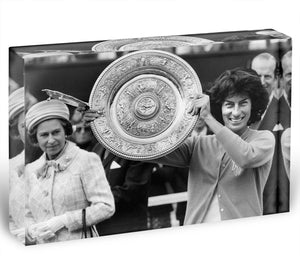 Virginia Wade tennis player Acrylic Block - Canvas Art Rocks - 1