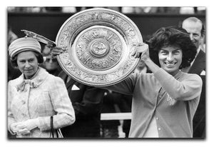 Virginia Wade tennis player Canvas Print or Poster  - Canvas Art Rocks - 1
