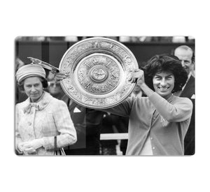 Virginia Wade tennis player HD Metal Print